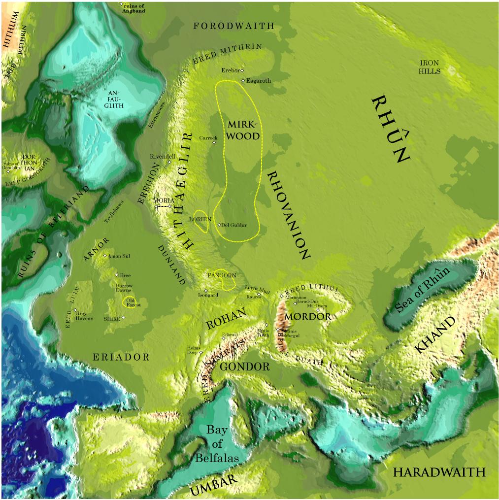 J.R.R. Tolkien y El Señor de los anillos - Página 2 Middle-Earth
