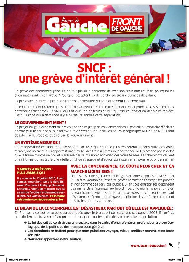 Parti de Gauche - Page 23 Greve-sncf-06-2014