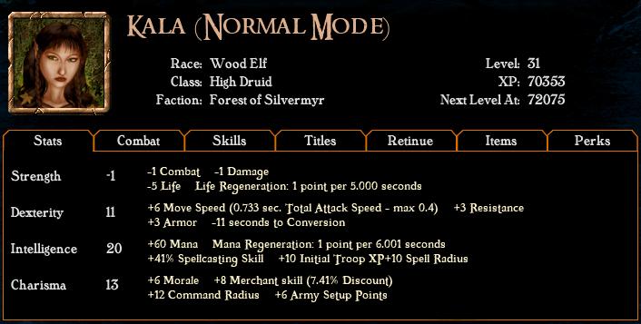 Algorithm for spell casting chance Hero1