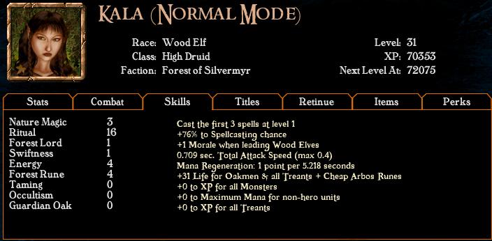 Algorithm for spell casting chance Hero2