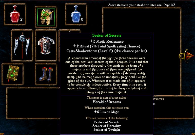 Algorithm for spell casting chance Items1