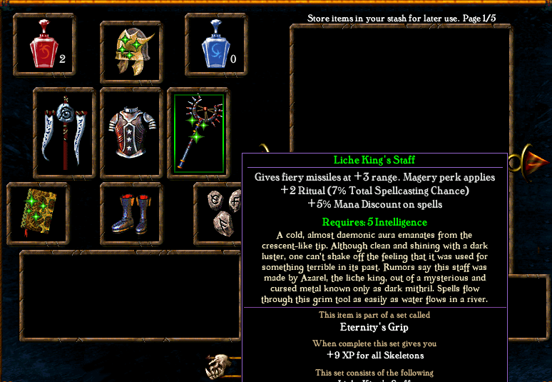 Algorithm for spell casting chance Items2