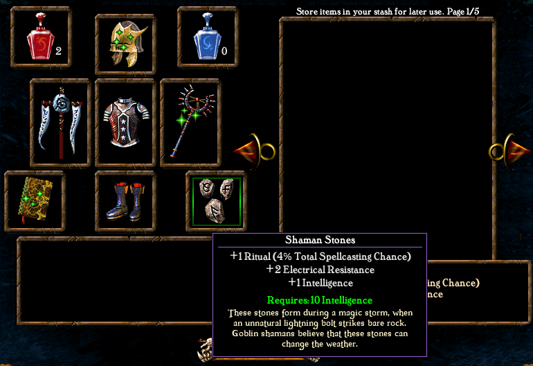 Algorithm for spell casting chance Items5