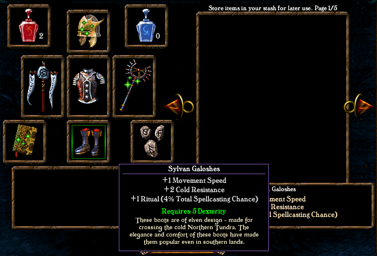 Algorithm for spell casting chance Items6
