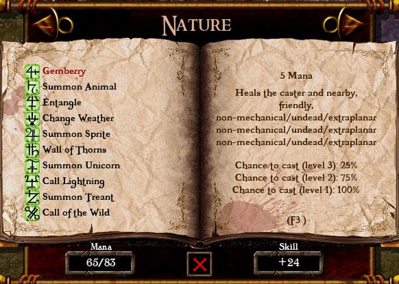 Algorithm for spell casting chance Spellbook