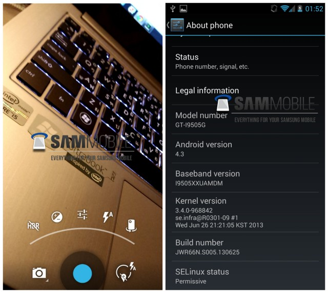 """[ASTUCE][APK] Télécharger et utiliser la nouvelle application """"Appareil Photo"""" - Google Play Edition / Galaxy S4 Google Edition [28/06/2013] Android-4.3-Galaxy-S4-Google-Play-Edition-leak-640x571"""