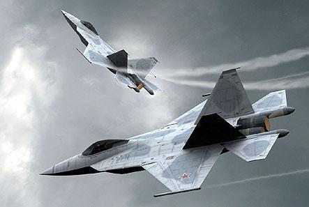 """أول ظهور لمقاتلة الجيل الخامس الروسية """"ت-50"""" Sukhoi-t50"""
