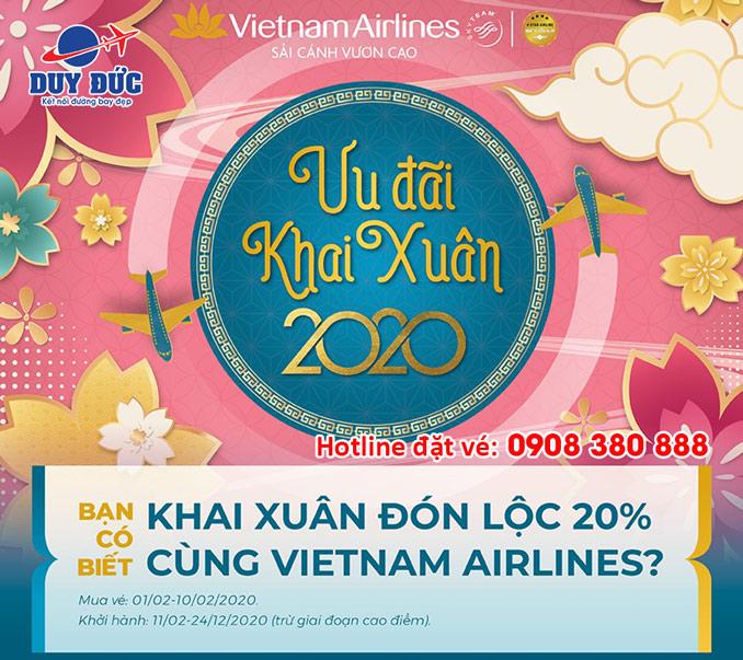 Khai Xuân 2020 Vietnam Airlines ưu đãi 20% giá vé Khai-xuan-don-loc-2020-vietnam-airlines