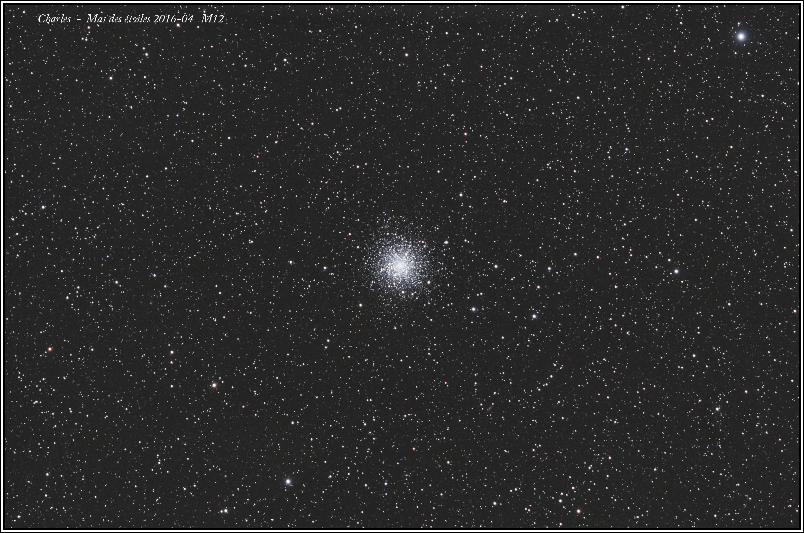 Images d'avril M12 et M106&Co M12
