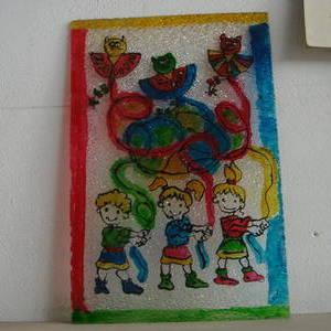 Αγιοβασίλης, αναπτήρας, ζωγραφικό έργο σε πλέξιγκλας, μπλοκ προσκλήσεων και χρωματιστό χαρτί A972305646TN