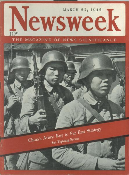what kind of steel combat helmets worn by Chi Coms & North Koreans? China%20wwii%20newsweek%20cover