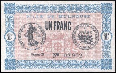 Exposición monográfica: El franco Semeuse. Billet-semeuse-mulhouse