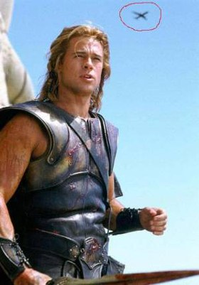 Does accuracy in films matter to audiences? Troy-plane-mistake