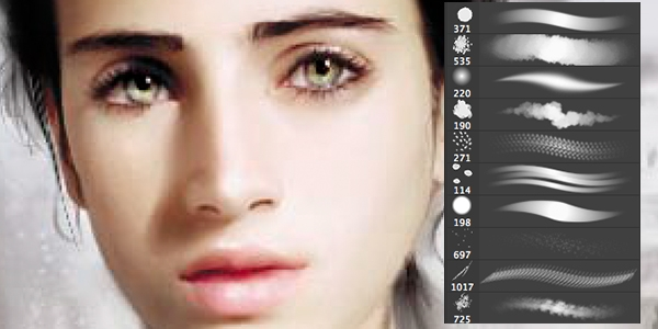Кисти для рисования в фотошоп / Paint brushes in Photoshop 63725