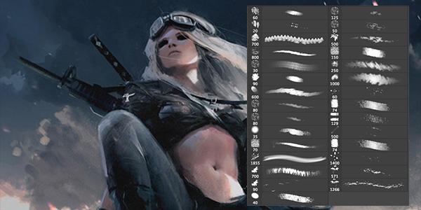 Кисти для рисования в фотошоп / Paint brushes in Photoshop 63726