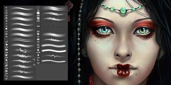 Кисти для рисования в фотошоп / Paint brushes in Photoshop 63730