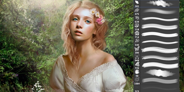 Кисти для рисования в фотошоп / Paint brushes in Photoshop 63740