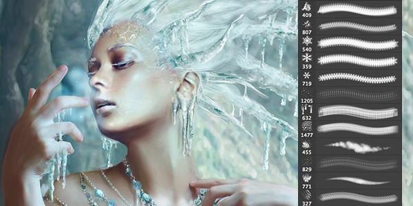 Кисти для рисования в фотошоп / Paint brushes in Photoshop 63742