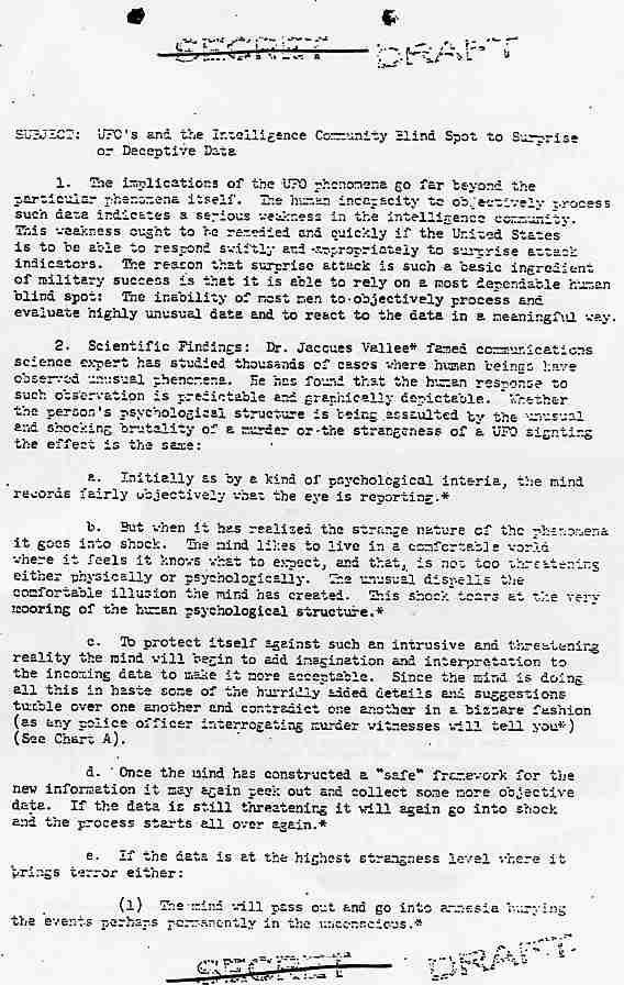 NSA: document reprenant certaines des hypothèses de Jacques Vallé Nsa1_jpg