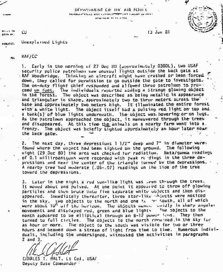 (1983) LE MOD (Ministry Of Defense) britannique s'inquiète au sujet de Rendslesham Haltmemo1_jpg