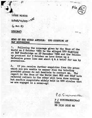 (1983) LE MOD (Ministry Of Defense) britannique s'inquiète au sujet de Rendslesham Doc6_jpg