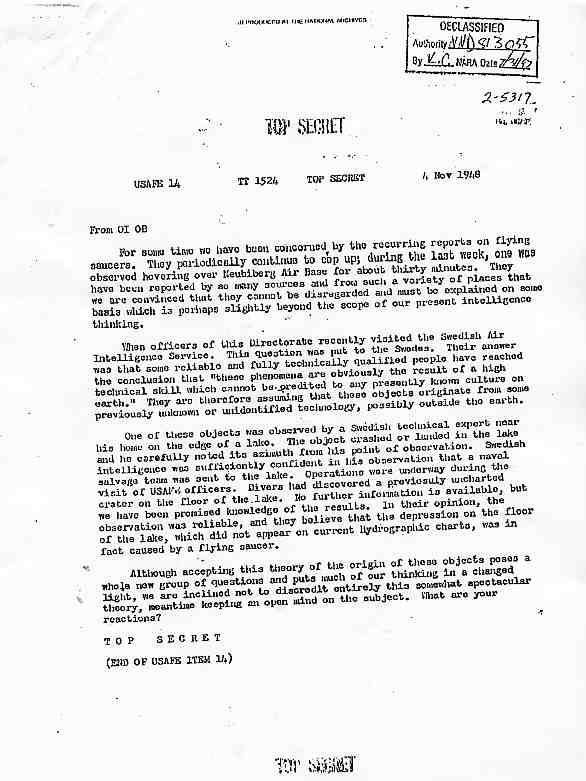 (1948) mémo top secret les Suédois ont des problèmes avec des OVNIs Usaafe_jpg
