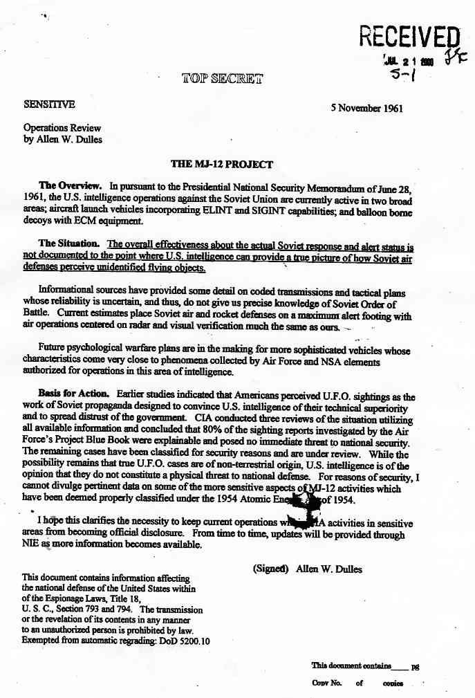 CIA: Les OVNIs existent et ne sont pas une menace pour les US Memo_dulles_jpg