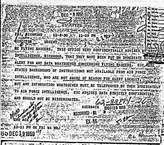 """(1950) Télétype top secret récupération des véhicules spatiaux """"étrangers"""" Tel_081250_jpg"""