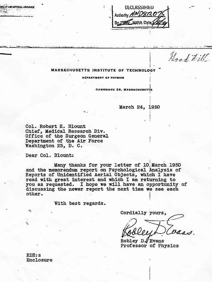 (1950) Un lettre émanant des Archives Nationales Américaines Blount2_jpg