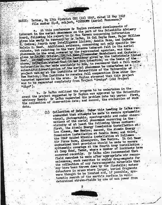 (1949) US Air Force le phénomène OVNI un problème pour la Sécurité Nationale  Kaplan2_jpg
