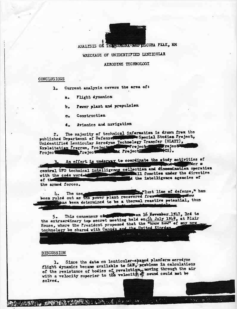 """(1950) Télétype top secret récupération des véhicules spatiaux """"étrangers"""" Cia2_jpg"""