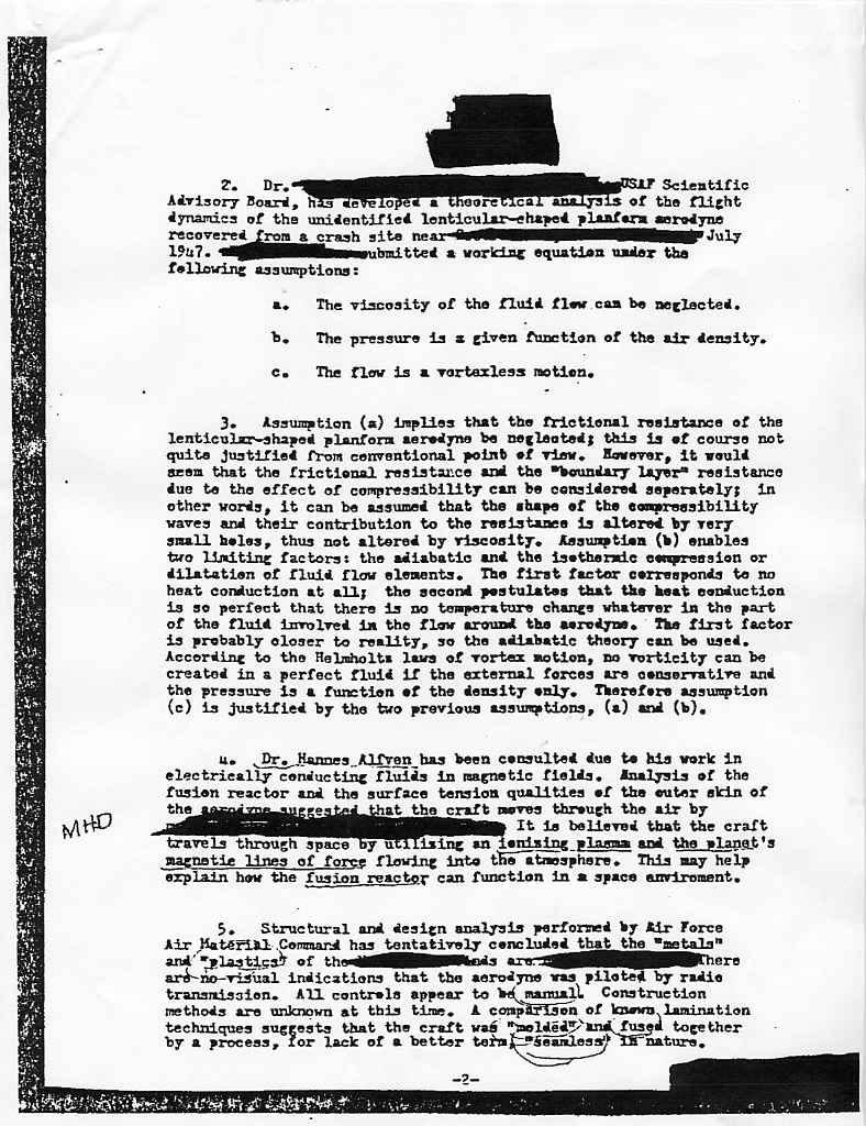 """(1950) Télétype top secret récupération des véhicules spatiaux """"étrangers"""" Cia3_jpg"""