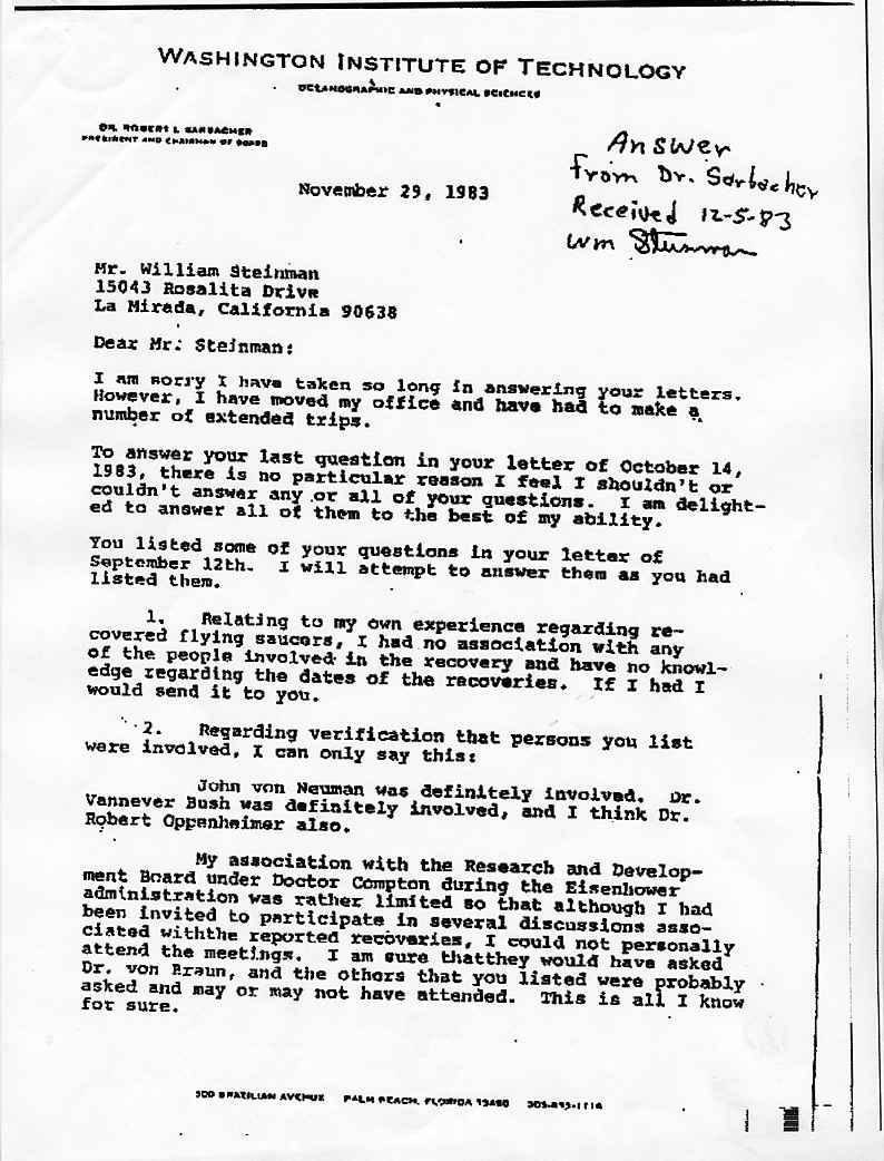 """(1950) interview du Dr Sarbacher par W.B.SMITH """"les soucoupes n'ont pas une origine terrestre"""" Sarbacher1_jpg"""
