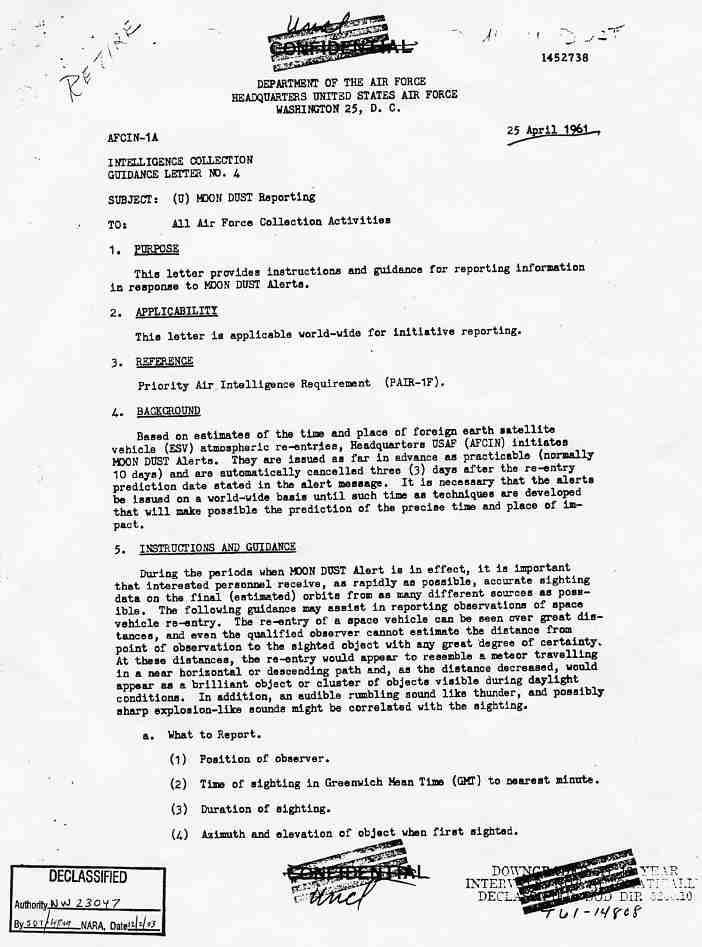 """(1950) Télétype top secret récupération des véhicules spatiaux """"étrangers"""" Monndust1_jpg"""