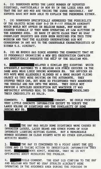 (1990) DIA document relatif aux observations de triangles en Belgique Belge3