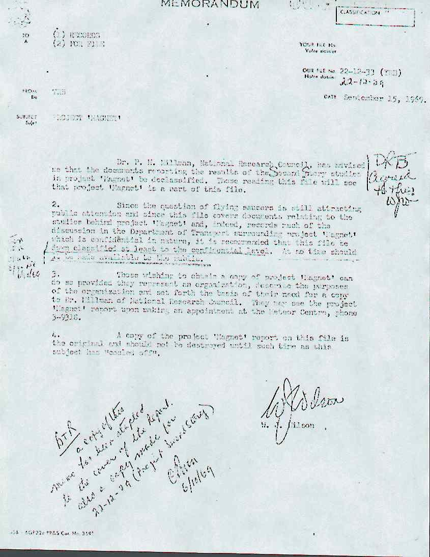 (1954) le projet Magnet l'un des documents les plus importants concernant les OVNIS Declass_jpg