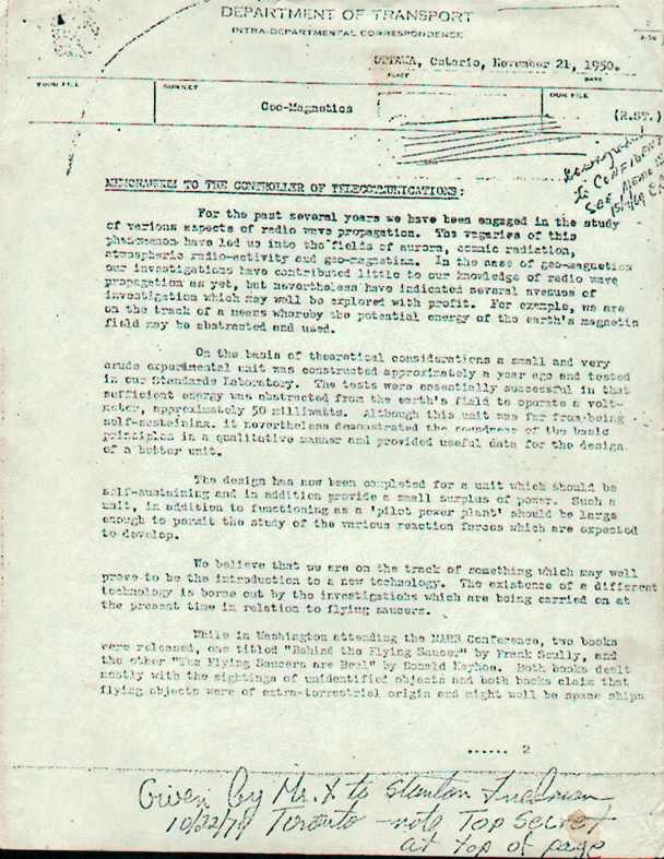 (1954) le projet Magnet l'un des documents les plus importants concernant les OVNIS Smithmemo1_jpg