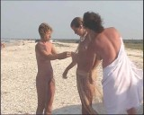 Family nudism. Naked nudists with their naked children.Dressed With A Smile 1054981-thumb