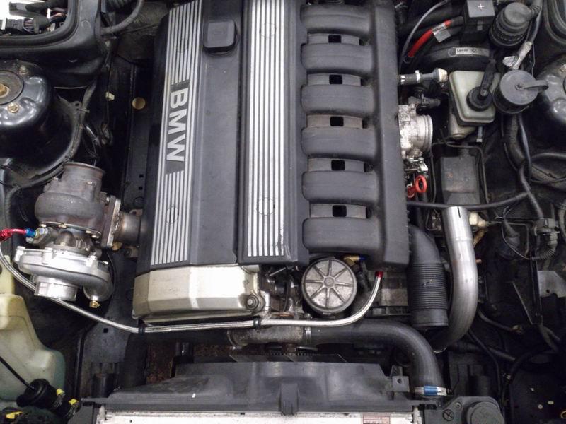 Grey - BMW E34 520 M50B25 Turbokombi. G-tech med film, sidan 5! - Sida 2 Turboinstallation