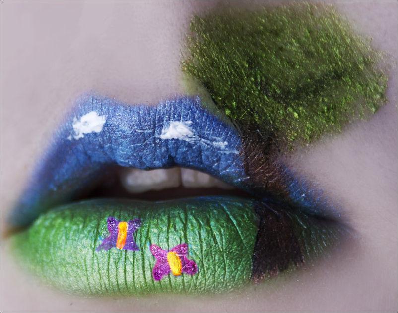 Боди-Арт на губах Katiealves-art-14