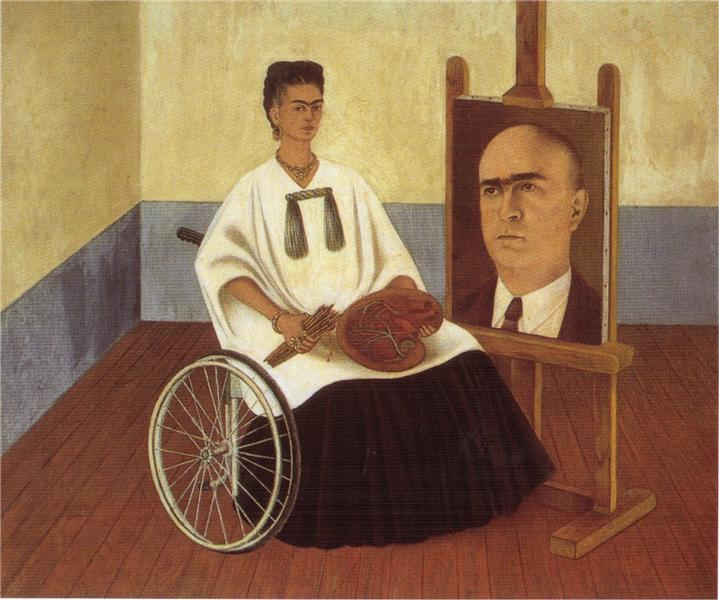 Frida Kalo Self-portrait-with-the-portrait-of-doctor-farill-frida-kahlo-wikiartorg-encyclopedia-of-visual-arts-1470189799_org