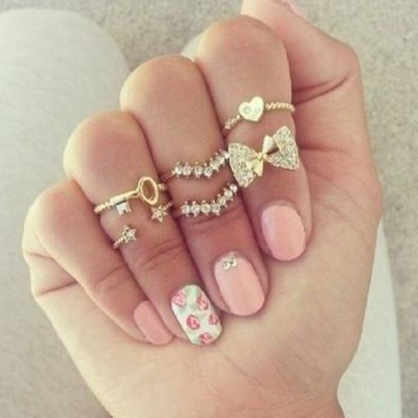 خوآأتــــم  للملكــــــــــآت Mpsr13-l-610x610-jewels-fashion-rings-midi-rings-bow-ring-bow-chevron-chevron-ring-key-key-ring-gold-ring-golden-golden-ring-star-star-rings-stars-ring-heart-heart-ring-heart-midi-ring-cute-girly-g