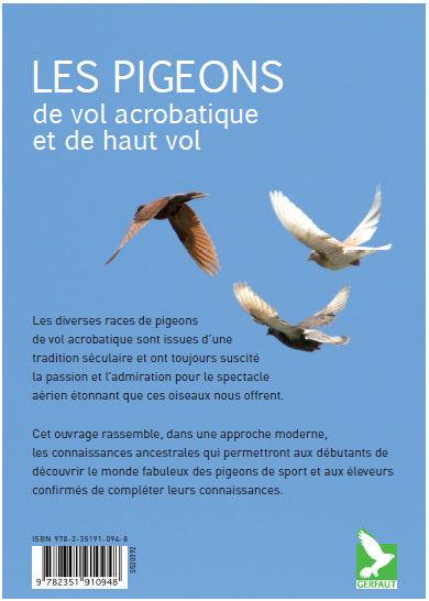 un livre sur les pigeons de vol acrobatique Dos
