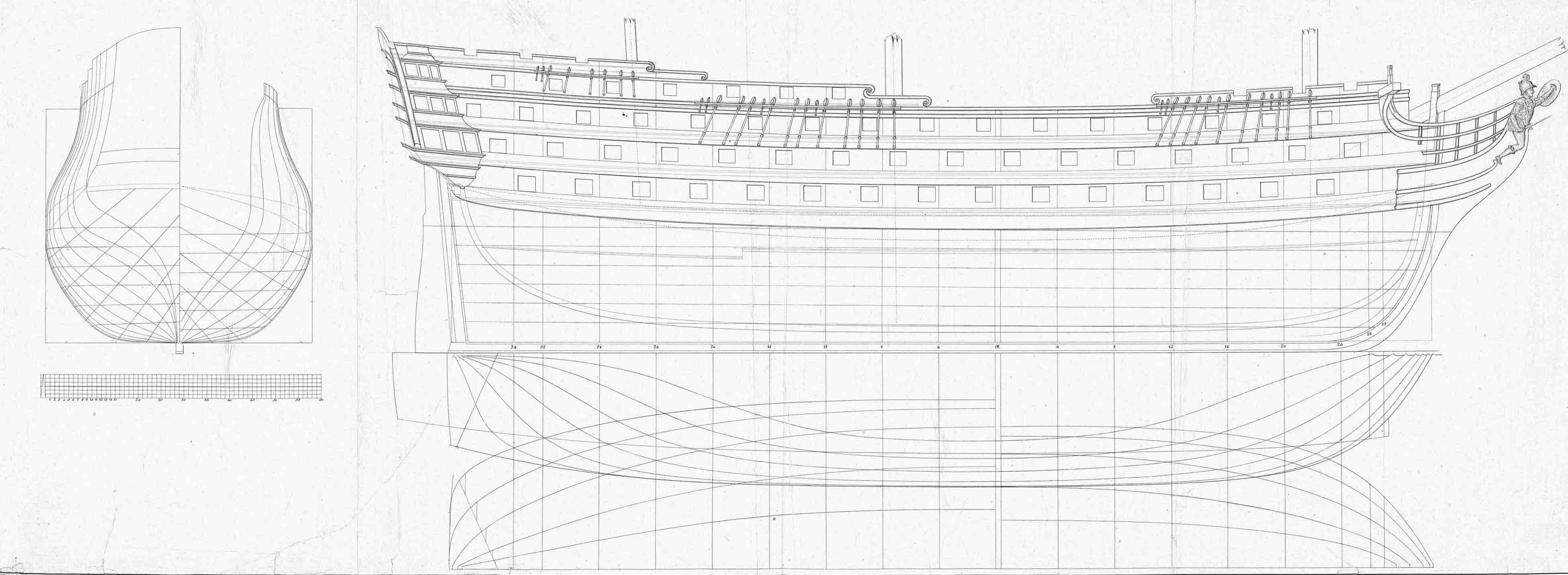 El navio de tres puentes en la Armada 001