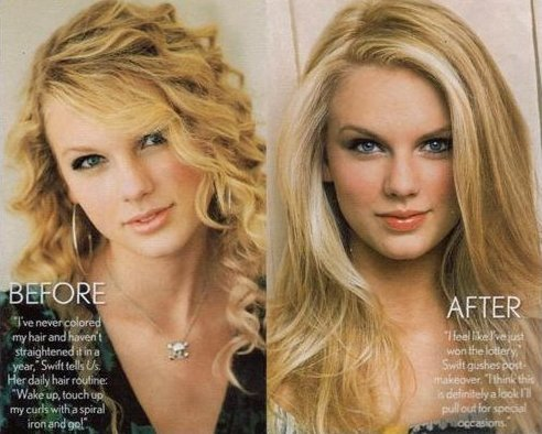 Top 5 Female Artists/Actresses Taylor-swift-straight-hair-2