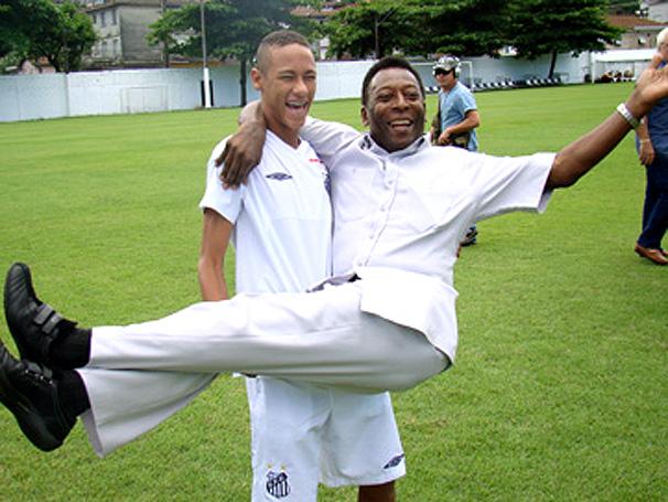 اللاعب نايمار Neymar-and-pele