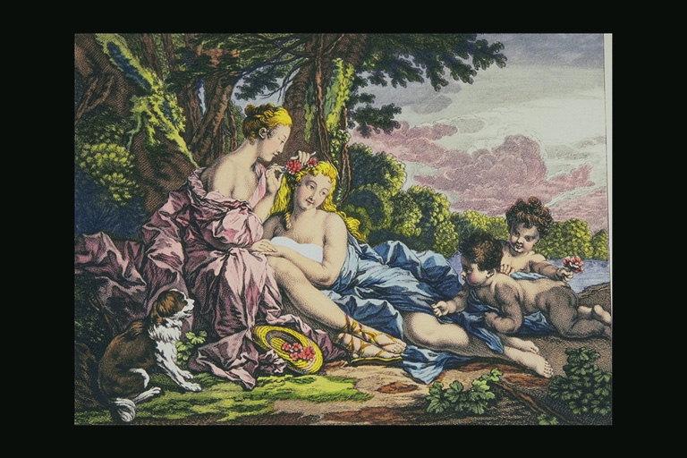 Zena na slikarskom platnu B-401054