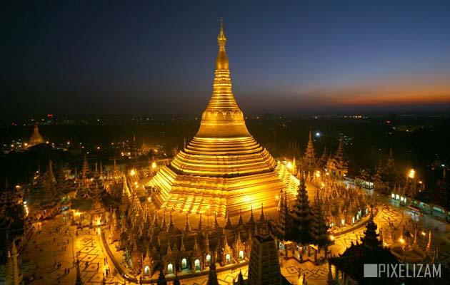 Najlepši hramovi na svetu Shwedagon-Pagoda