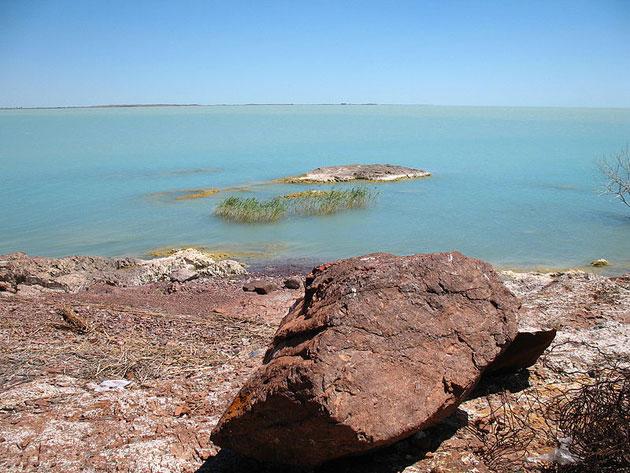 Balhaško jezero: Slatko-slano jezero, Kazahstan Balhasko-jezero-3