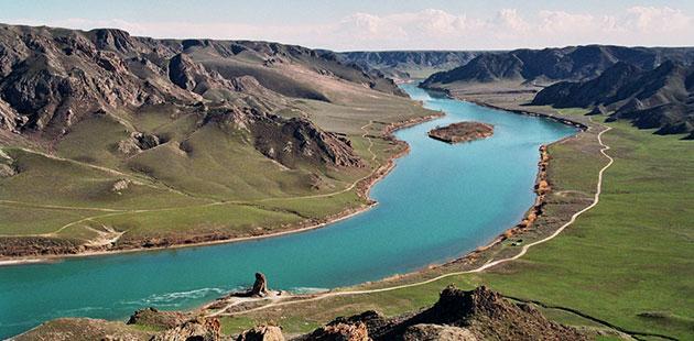 Balhaško jezero: Slatko-slano jezero, Kazahstan Balhasko-jezero